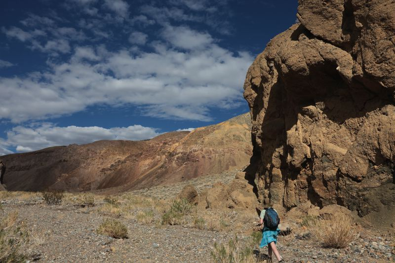 Death Valley Hiking Away From Crowds - Nemo Canyon