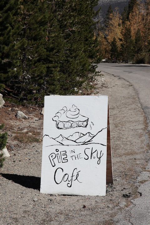 Pie in the Sky Cafe Sign