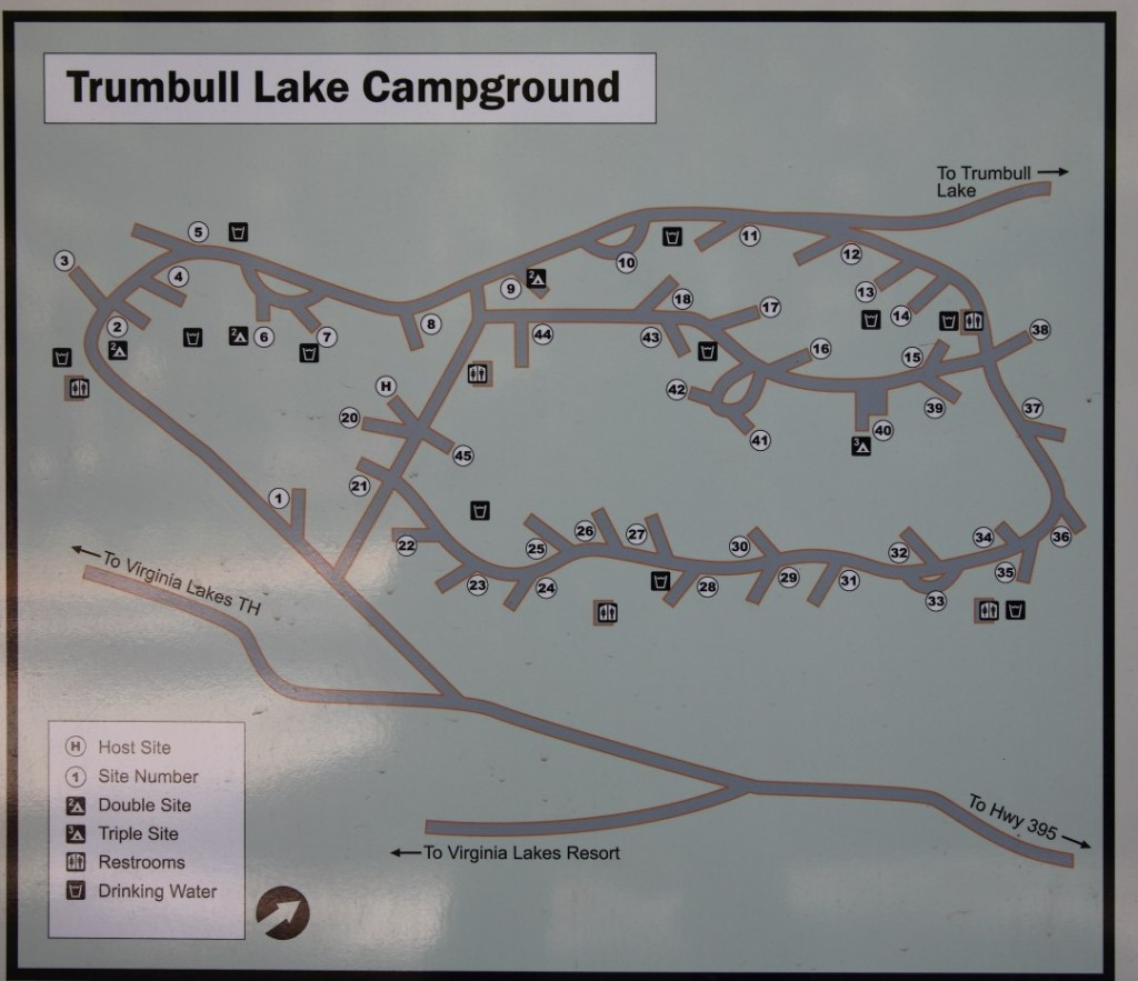 Trumbull Lake Campground Map